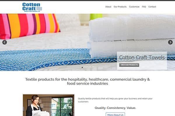 Cotton Craft Web Design Project